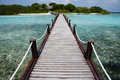 Wyspy jetty - Maldives Obrazy Stock