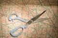 Wzór scissors krawiectwo Obrazy Stock