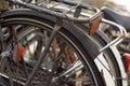 Wzdłuż rowerów. Zdjęcia Royalty Free