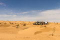 X cars at the desert all terrain tunisian Royalty Free Stock Image