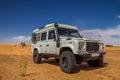 X in desert all terrain car at the tunisian Stock Photos