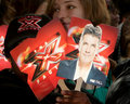 X-Factor Signs - atmosphere arriving at the X-Factor Premiere Screening Royalty Free Stock Photography