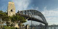 X inch sydney harbour bridge panorama a image taken on an early morning from dawes point Royalty Free Stock Images