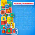 X mas greeting card merry christmas vector illustration eps contains transparencies Royalty Free Stock Photography