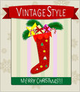 X mas postcard vector eps Royalty Free Stock Photography