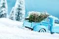 X mas tree truck Royalty Free Stock Photo