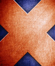X pattern on metal background Stock Image