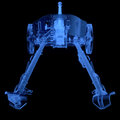 X ray of artillery cannon on black background Royalty Free Stock Image