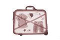 X ray luggage bag on white background Stock Photo