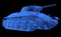 X ray version of soviet t tank on black Stock Photography