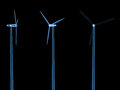 X ray wind turbines isolated on black Royalty Free Stock Photo