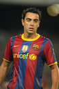 Xavi Hernandez of Barcelona Stock Images