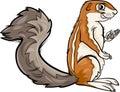Xerus Animal Cartoon Illustrat...