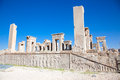Xerxes palace in Persepolis Royalty Free Stock Photo