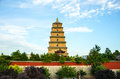 Xi an big wild goose pagoda buddhist historic buildings tang xuan zang translated by the book places Stock Images