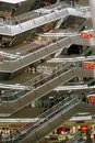 Xi'an, China: Kaiyuan Shopping Mall Escalators Stock Image