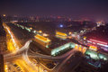 Xi an city wall night rampart republic of china it is the world s largest and oldest and extant most complete walls this is the Stock Photography
