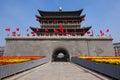 Xi'an Drum Tower at autumn Stock Image