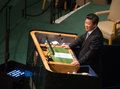 Xi jinping on th session of the un general assembly new york usa sep president people s republic china speaks at opening Royalty Free Stock Photos
