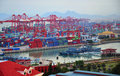 Xiamen ,China Port Stock Images
