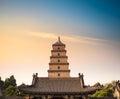 Xian big wild goose pagoda closeup Royalty Free Stock Photo