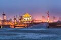 Xian in nightfall beautiful city wall and ancient tower china Royalty Free Stock Photos