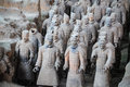 Xian terracotta warriors Royalty Free Stock Photo
