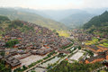 Xijiang thousand households hmong village in china Royalty Free Stock Image