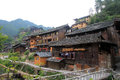 Xijiang thousand households hmong village in china Royalty Free Stock Photography