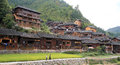 Xijiang thousand households hmong village in china Stock Photos