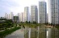 Xining City Developments Royalty Free Stock Photo