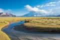 XINJIANG, CHINA - May 21 2015: Morning view at Karakul Lake. a famous landscape on the Karakoram Highway in Pamir Mountains, Akto Royalty Free Stock Photo