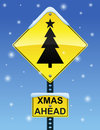 Xmas Ahead Sign Royalty Free Stock Images