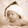 Xmas baby with cap Royalty Free Stock Photography