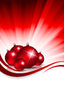 Xmas background with balls Stock Images