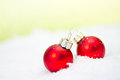 Xmas balls decoration with red Stock Image