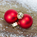 Xmas balls decoration with red Royalty Free Stock Images
