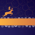 Xmas banner with reindeer Stock Photo