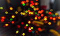 Xmas blurs lighting ball bokeh effect Royalty Free Stock Photo