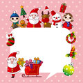 Xmas card cartoon vector illustration Royalty Free Stock Photo