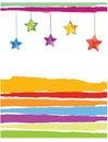 Xmas card color stars