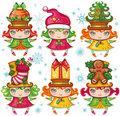 Xmas children  collection Stock Image