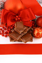 Xmas chocolate gift Stock Image