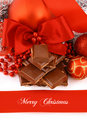 Xmas chocolate gift Stock Photography