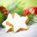 Xmas cookies decoration with close up Stock Photo
