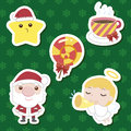 Xmas cute cartoon set Royalty Free Stock Image