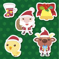 Xmas cute cartoon set Stock Images