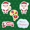 Xmas cute cartoon set Royalty Free Stock Photo