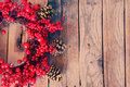 Xmas garland photo of christmas on wooden background Stock Photos