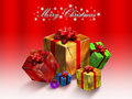 Xmas illustration - Balls - gifts Stock Image
